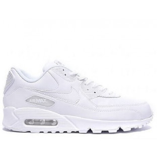 """Кроссовки Nike Air Max 90 Leather """"All White"""""""