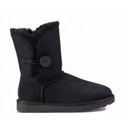 "UGG BAILEY BUTTON II BOOT ""BLACK"""