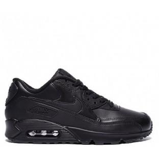 "Кроссовки Nike Air Max 90 Leather ""Black"""
