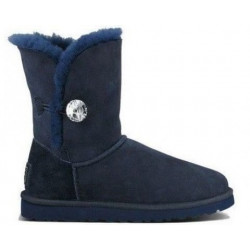 "UGG BAILEY BUTTON BLING BOOT ""NAVY"""