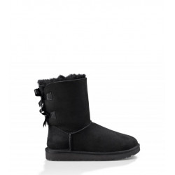 "UGG BAILEY BOW II BOOT ""BLACK"""