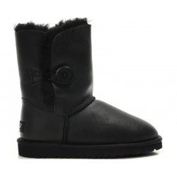 "UGG BABY BAILEY BUTTON II BOOT LEATHER ""BLACK"""