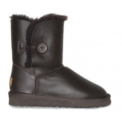 "UGG BAILEY BUTTON II BOOT LEATHER ""BROWN"""