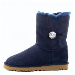 "UGG BAILEY BUTTON II BLING BOOT ""NAVY"""