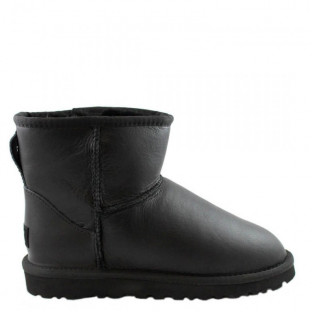 "UGG CLASSIC MINI II BOOT LEATHER ""BLACK"""