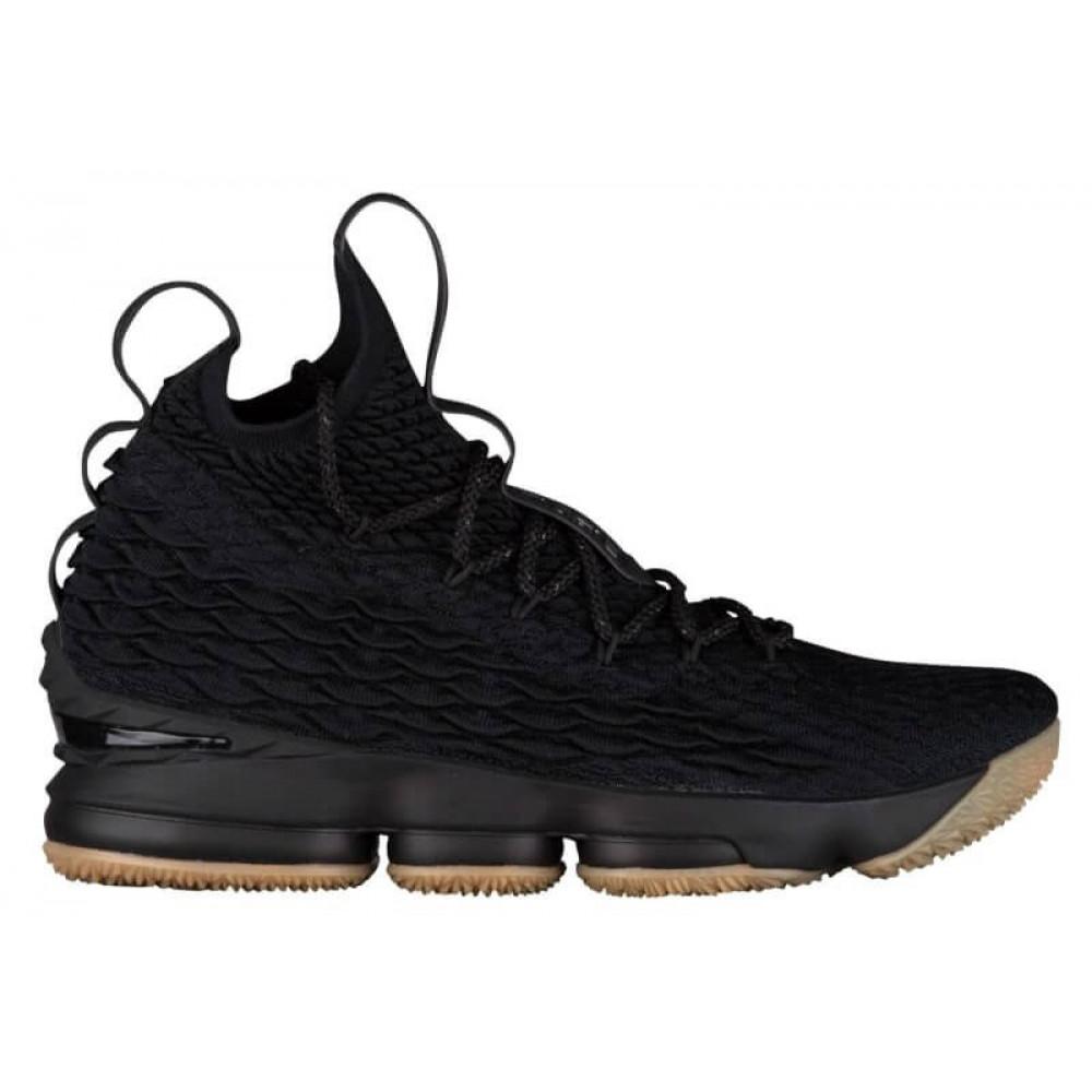 """Демисезонные кроссовки мужские   - Баскетбольные кроссовки Nike LeBron 15 """"Black Gum"""""""