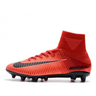 "Футбольные бутсы Nike Mercurial Superfly V AG-Pro ""Bright Crimson/White/University Red"""