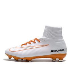 """Футбольные бутсы Nike Mercurial Superfly V FG """"White/Chocolat"""""""