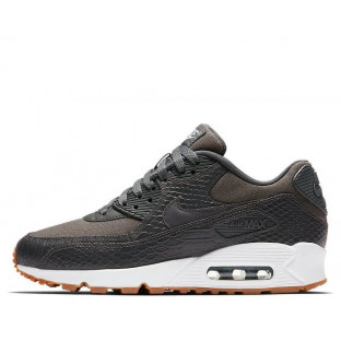 "Кроссовки Nike Air Max 90 Premium ""Dark Grey/Gum Yellow/White"""