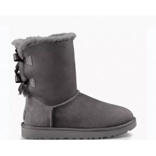 "UGG BAILEY BOW II BOOT ""GREY"""