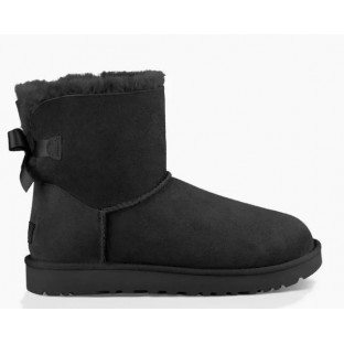 "UGG MINI BAILEY BOW II BOOT ""BLACK"""