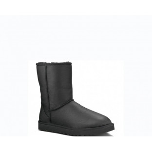 "UGG BABY CLASSIC II BOOT LEATHER ""BLACK"""