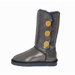 "UGG BAILEY BUTTON TRIPLET II BOOT ""GOLD"""