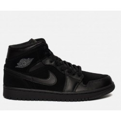 """Баскетбольные кроссовки Nike Air Jordan 1 Mid """"Black/Dark Grey"""""""